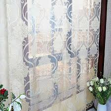 Patterned Sheer Curtains Polyester Made Patterned Sheer Curtains Are Vintage Style
