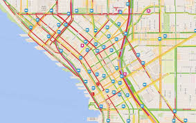 seattle map traffic time lapse shows how alaskan way wreck evening commute