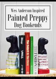 Dog Home Decor by Wes Anderson Inspired Preppy Dog Bookends Domicile 37