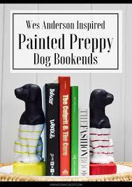 dog home decor wes anderson inspired preppy dog bookends domicile 37