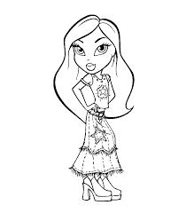 desenhos moldes riscos bratz meninas bonecas colorir pintar