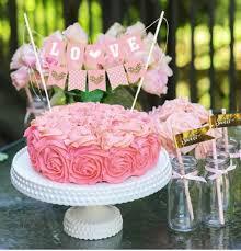 cake topper banner handmade cake bunting wedding party cake topper gold heart