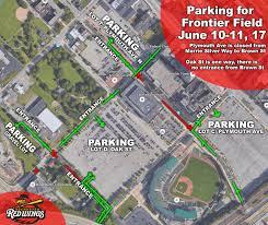 Dodger Stadium Parking Map Updated Parking Information For Frontier Field Milb Com