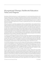 Nbcot Certification Letter Occupational Therapy Fieldwork Education Value And Purpose