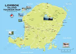 Bali Indonesia Map Lombok Island Tourism Map
