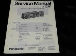 original panasonic rx c50 portable radio cassette recorder