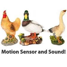 large decorative ornamental garden motion sensor with sound farm