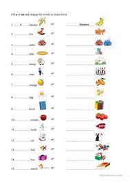 150 free esl plurals worksheets