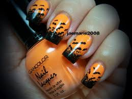halloween nail design bats bats u0026 more bats youtube