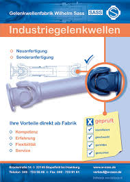 grafik design hamburg grafikdesign hamburg anzeigen gestaltung für sass gelenkwellenfabrik