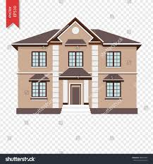 three colorful twostorey house vector illustration stock vector