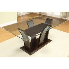 Solid Top Dining Table by Furniture Of America Manhattan I Rectangular Dining Table The Mine