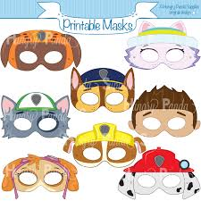 paws printable character party masks printable masks dog