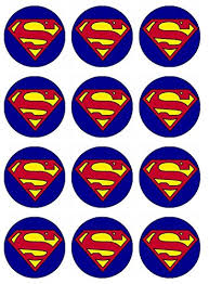 superman cake toppers 12 edible superman cupcake toppers superman cupcakes