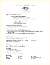 Resume For Tutor Examples Of Resumes Sample Resume For Job Application In