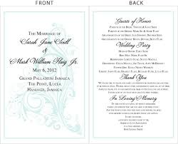 wedding program exles wording thank you wedding cards wording