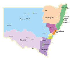 New England Area Map by Contact Training Services Nsw