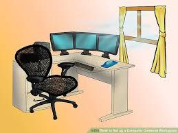 Left Handed Desk Cool Left Handed Desk Setup How To Set Up A Computer Centered