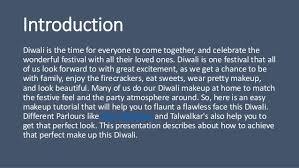 make up this diwali festival