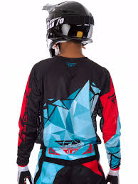 fly racing motocross gear fly racing teal black red 2017 kinetic crux mx jersey ebay