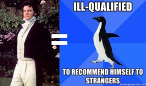 Socially Awkward Penguin Meme Generator - question 147 i handle myself badly in large groups of new