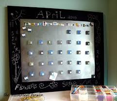 Magnetic Bulletin Board Sheet Metal Tile Magnets Chalkboard Paint Calendar Board Craft