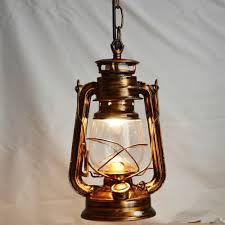 Buy Pendant Lights by 250mm 160mm Vintage Nostalgic Lantern Kerosene Lamp Pendant Light