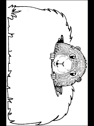 groundhog day coloring page peeking groundhog primarygames