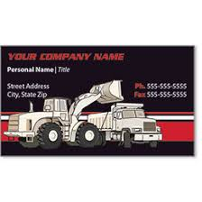 Business Card For Construction Company Full Color Construction Business Cards For Construction Marketing
