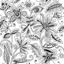 free sketch pattern batik contemporer
