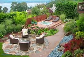 Landscaping Ideas For Sloped Backyard Backyard Sloped Backyard Landscaping Ideas Fresh Pinterest