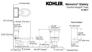 Kohler Comfort Height Round Toilet Kohler K 3817 0 Memoirs Stately Two Piece Elongated Toilet