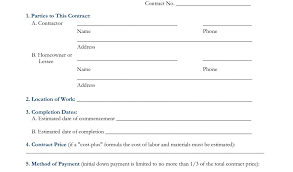 remodeling contract template 8 free construction contracts
