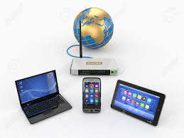 Home Internet by Home Wifi Network Internet Via Router On Phone Laptop And Tablet