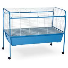 Extra Large Rabbit Cage Prevue Pet Jumbo Tubby Rabbit Cage On Stand With Blue Tub Hayneedle