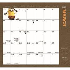 minion desk calendar 2017 minions 2016 monthly pocket planner 9781620214503 calendars com