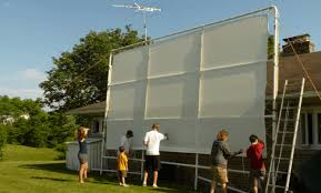 Backyard Projector Screen by The Best Outdoor Projectors And Projectors For Large Venues