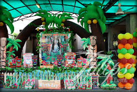 themed decorating ideas hawaiian with luau themed birthday party decoration planner in