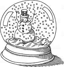 snow globe snowman drawing stock vector art 165923107 istock