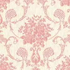 marais pink ikat damask wallpaper contemporary wallpaper by
