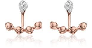 jacket earrings lyst vinader nura teardrop jacket earrings in pink