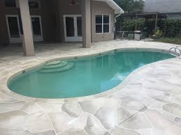 concrete designs florida travertine pool deck florida