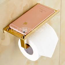 toilet paper holder gold brass contemporary brass material