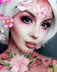 close up of my blossom makeup thanks for the overwhelming love on this look