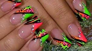 neon stripes nail art design striped nails tutorial youtube