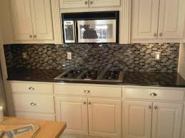glass mosaic tile backsplash design modern kitchen
