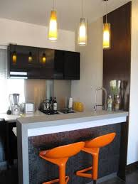 Small Kitchen Bar Ideas Modern Small Kitchen Bar Designs With Black Cabinet And Decorative