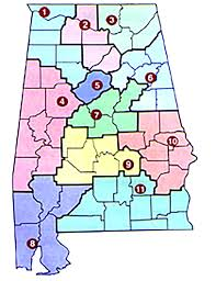 Alabama State Map by Troy Edu Alabama Science In Motion