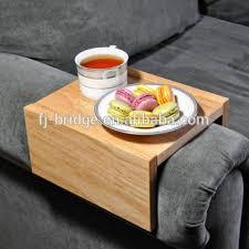 plateau de canapé chaise en bambou caddy plateau en bois bois accoudoir canapé table