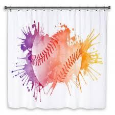 Custom Size Shower Curtains Softball Shower Curtains Bath Decor Bath Mats Towels